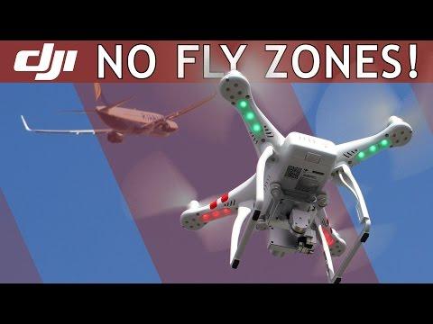 DJI Phantom | NO-FLY ZONES Feature | Video Tutorial