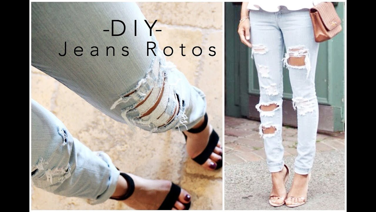 Diy Jeans Rotos Ripped Jeans Tipsdekarely Youtube