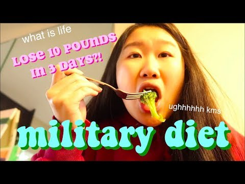 I tried the military diet....LOSE 10 POUNDS IN 3 DAYS BY EATING ICE CREAM+ CHEESE?!