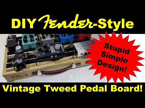 Making a Fender-Style Vintage Tweed Guitar Pedal Board