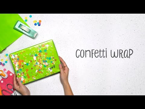 DIY Confetti Wrapping Paper Tutorial - DIY Wrapping Paper Crafts