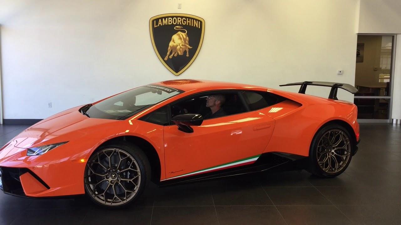 2018 Lamborghini Huracan Performante 1 Red 1 Orange Youtube