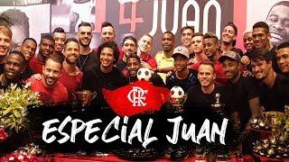 Flamengo promove festa surpresa para Juan em sua despedida
