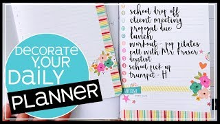 Daily Planner Ideas | Decorate Your Daily Spreads 2019