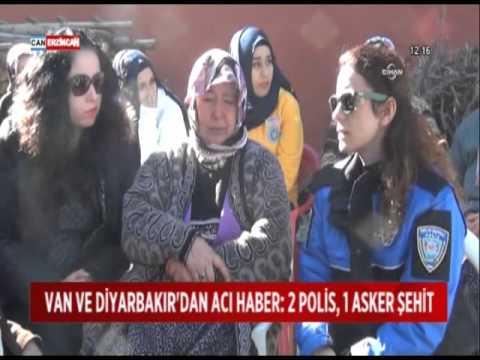 Van Ve Diyarbakır'dan Gelen şehit Haberleri Yürekleri Dağladı