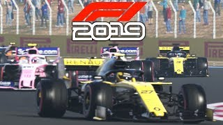 F1 2019 EXCLUSIVE Gameplay - Race in FRANCE with Daniel Ricciardo (F1 2019 Game Renault)