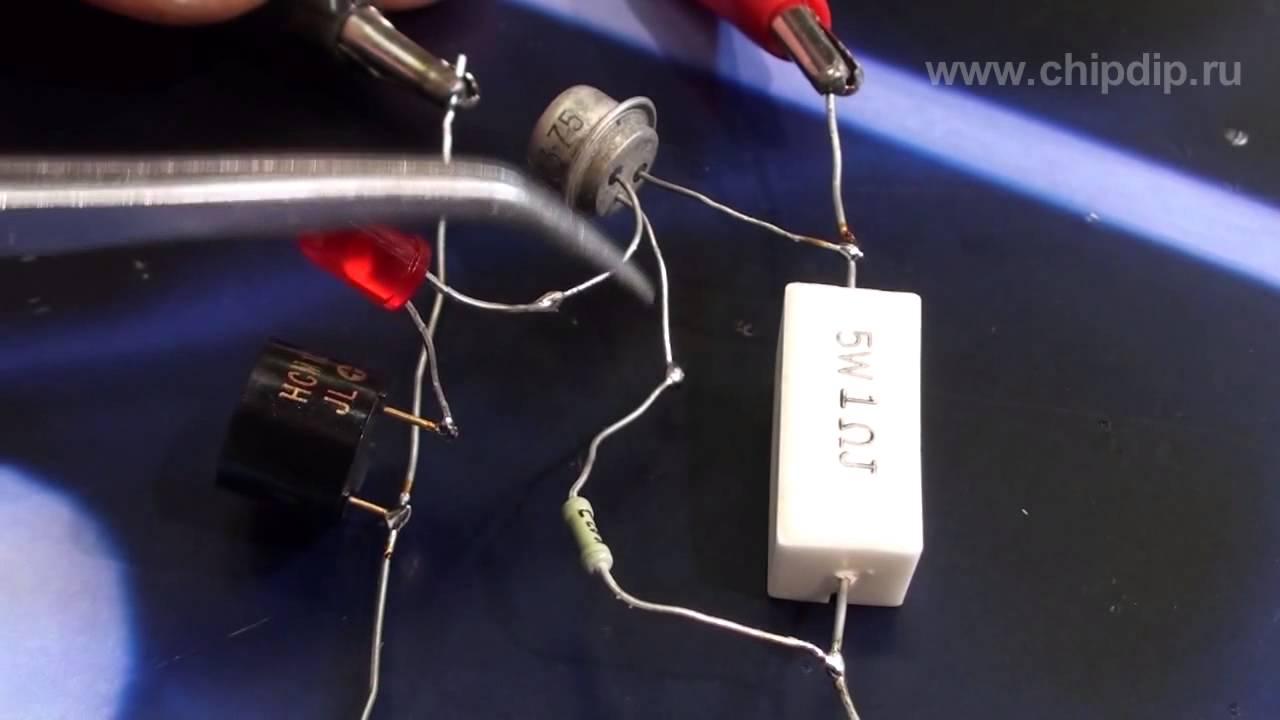 простейшая схема сигнализатора поклевки