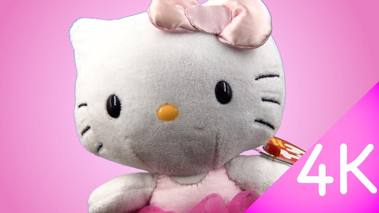 070124571458 Hello Kitty Beanie Babies - Hello Kitty Ballerina 4k - YouTube