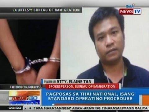 NTG: Panayam kay Atty. Elaine Tan ng Bureau of Immigration kaugnay sa pagpapa-deport sa Thai nat'l