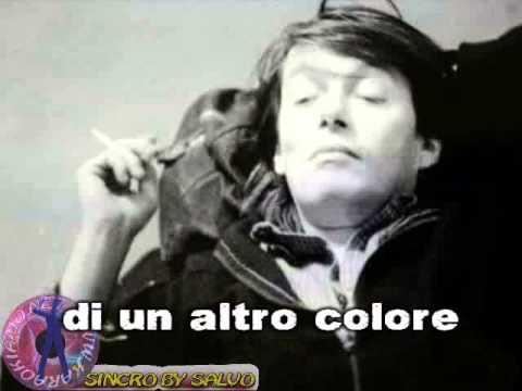 Fabrizio De Andrè - Amore che viene amore che va (karaoke - fair use)