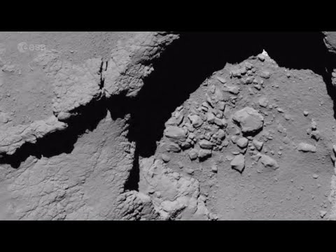 Rosetta's final images (European Space Agency)