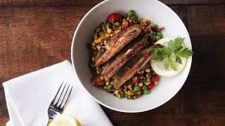 Sauteed Perch with Summer Succotash