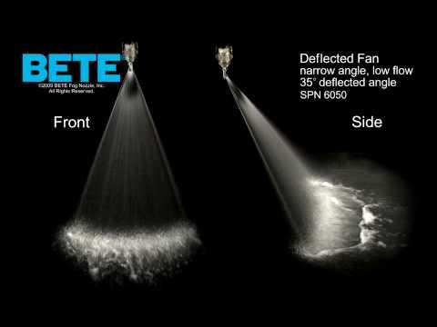 Deflected Fan Spray Nozzle Bete Spn 6050 Youtube