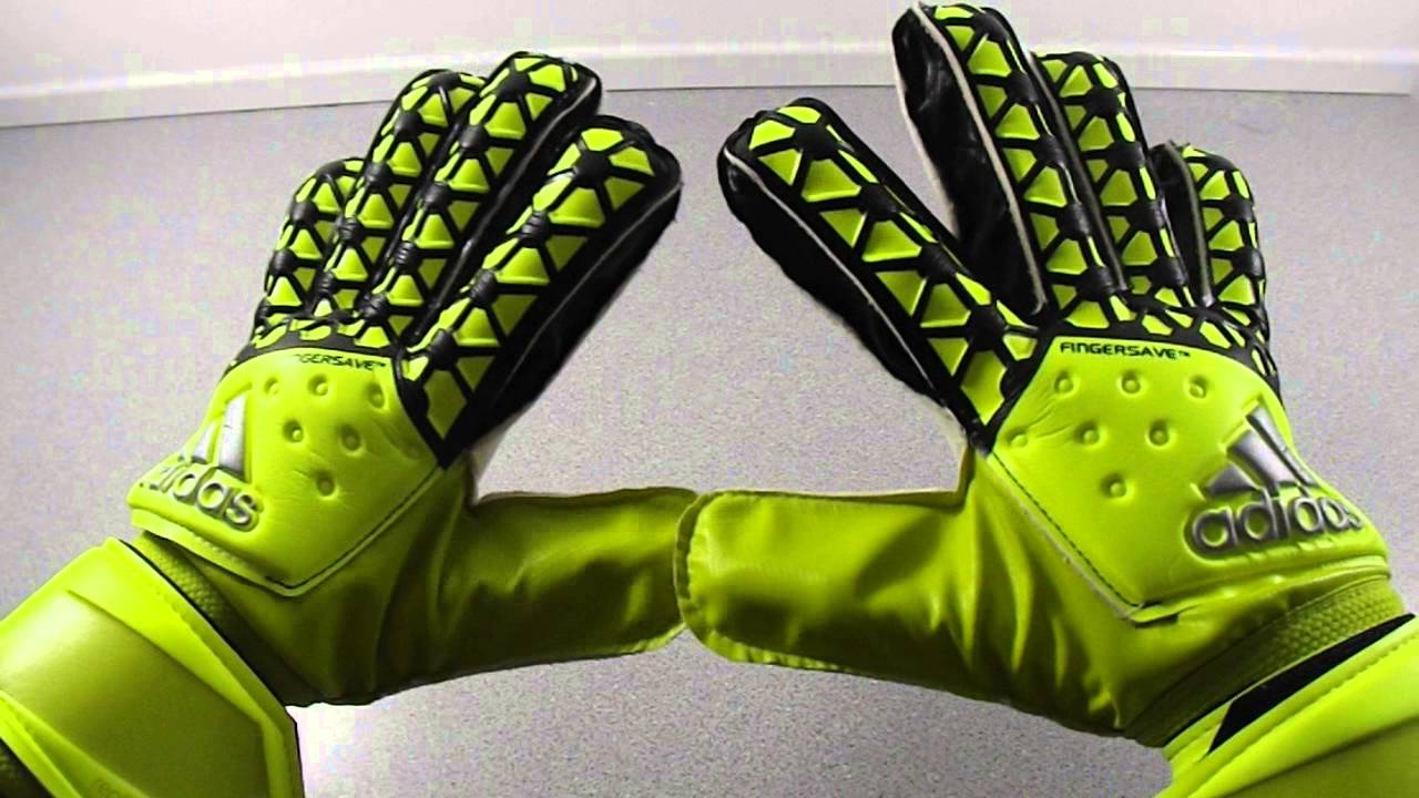 Adidas Ace Fingersave Replique Goalkeeper Gloves Preview - YouTube ab1de1cf64