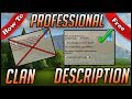 How To Make A Professional Clan Description | FREE | Clash of Clans