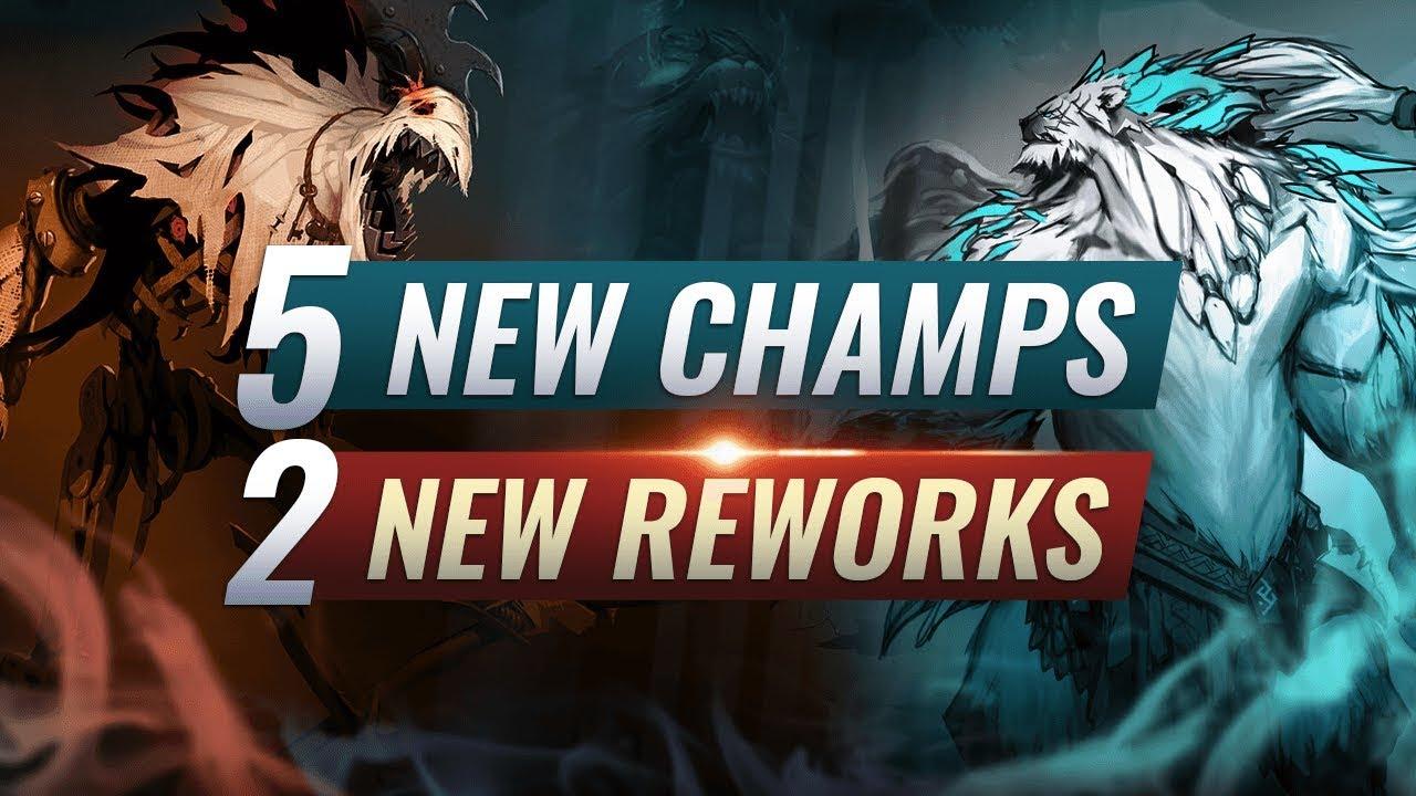 MASSIVE CHANGES: 5 NEW CHAMPIONS + 2 NEW REWORKS - League of Legends Season 10