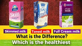 What is the difference between Toned milk, Skimmed milk and Full Cream milk