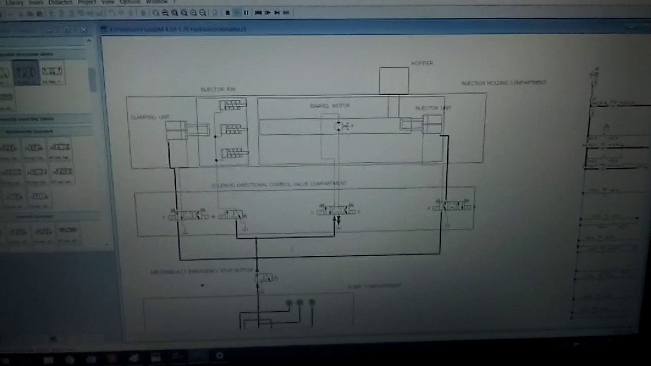 Injection Molding Machine (hydraulic circuit) on