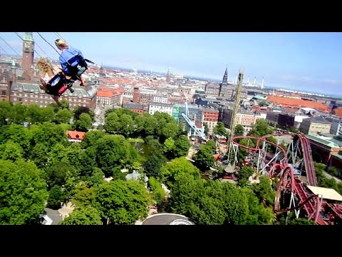 Himmelskibet Star Flyer on-ride HD POV Tivoli Gardens