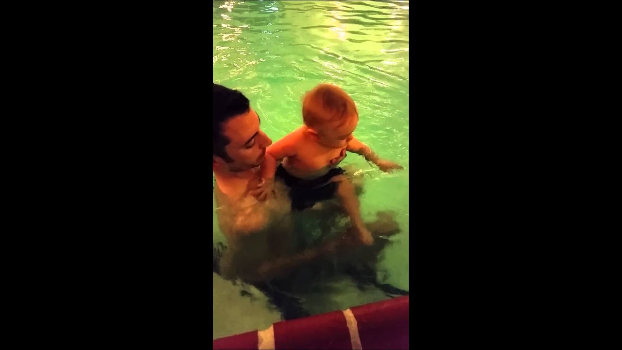 First Time In A Pool 12 5 Months Youtube