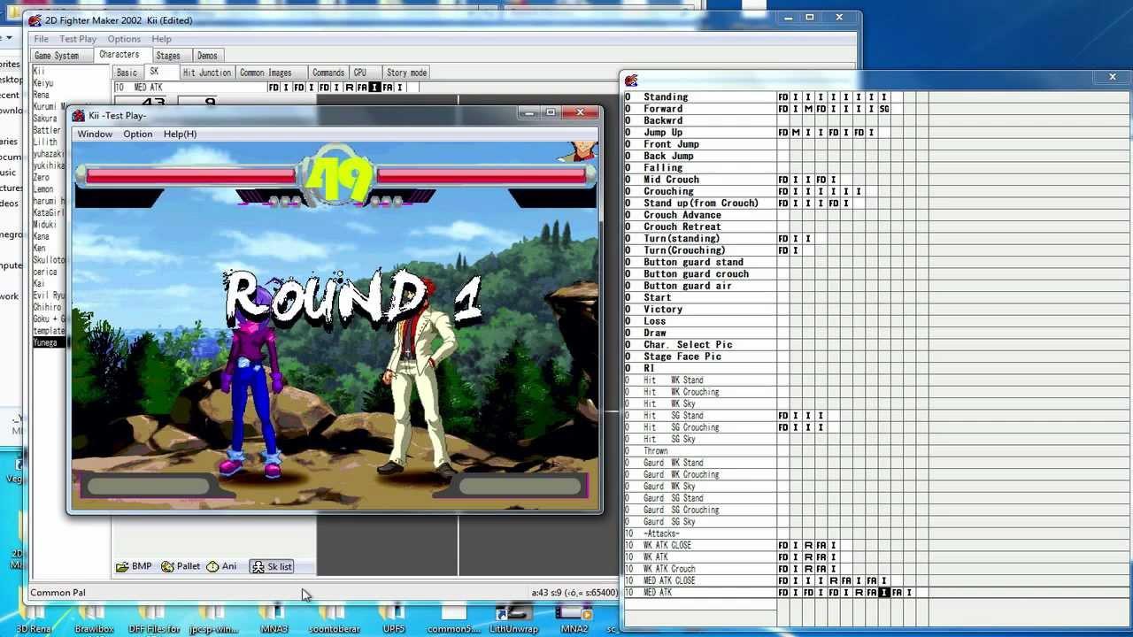 2d Character Design Software Free Download : D fighter maker fm nd character creation test yunega