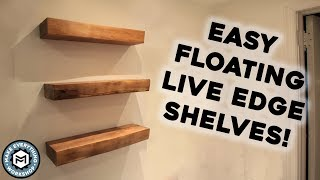 Making Live Edge Floating Shelves!