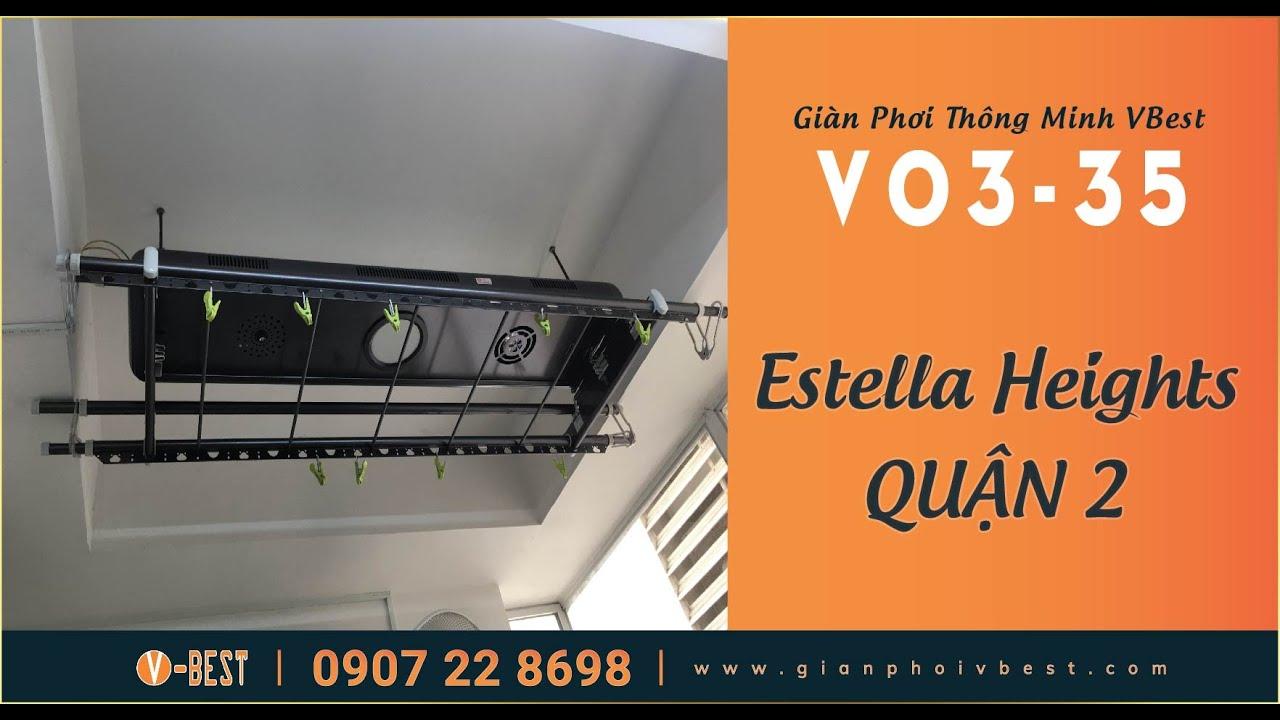 Lắp Giàn Phơi Thông Minh V03-35 Tại Căn Hộ Cao Cấp Estella Heights Quận 2 | www.gianphoivbest.com