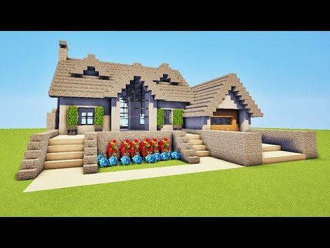 Super maison sur minecraft tuto minecraft youtube for Tuto maison moderne minecraft