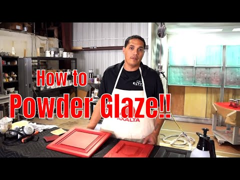 How to powder glaze cabinets and furniture