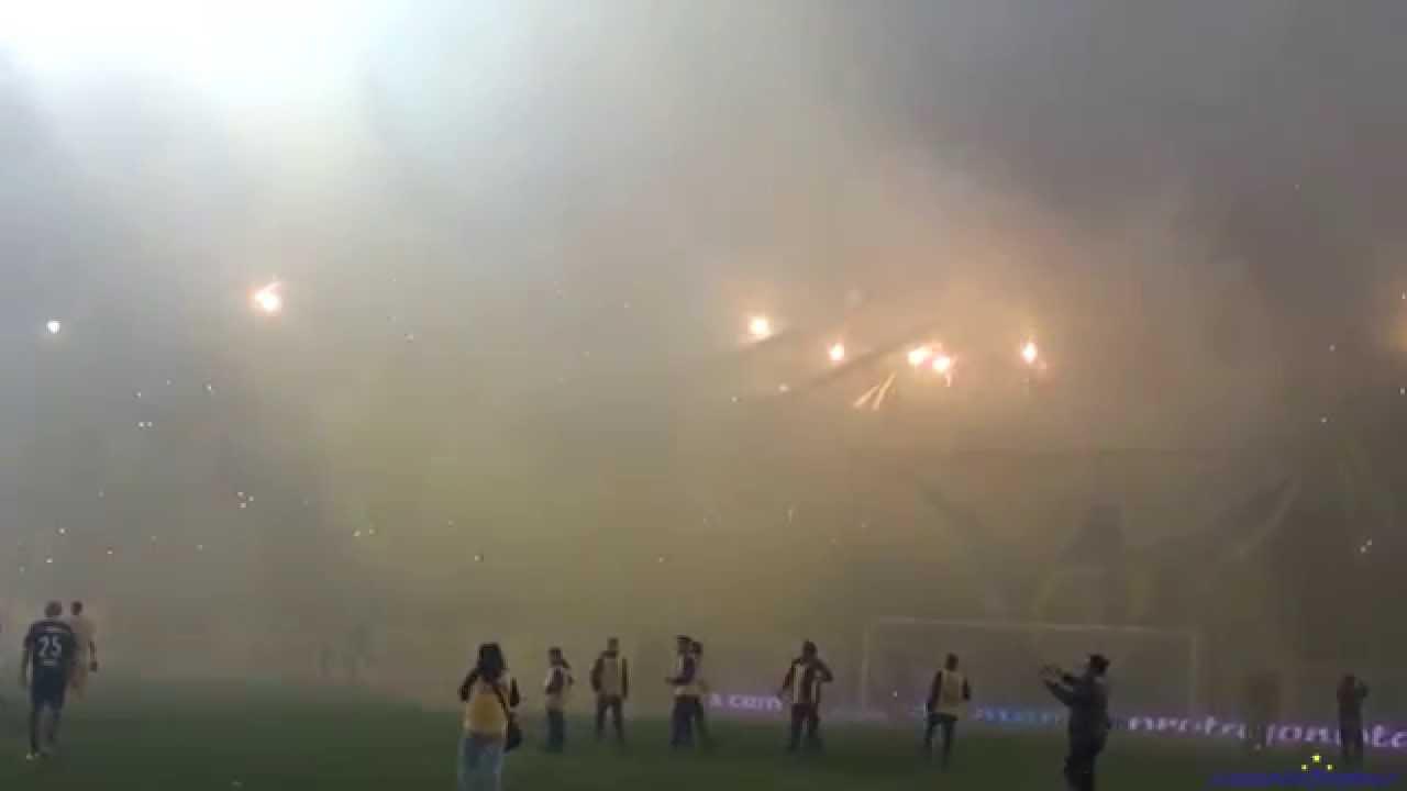'Recibimiento' Rosario Central (Los Guerreros) vs Sarmiento - 2015