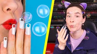 Download Testing Useless Nail Hacks (Blowing Bubbles Through My Nails) Mp3 and Videos