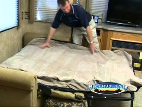 Fold Out Sofa Mattress T Cushion Slipcovers Target Heartland Rv's Air Video - Youtube