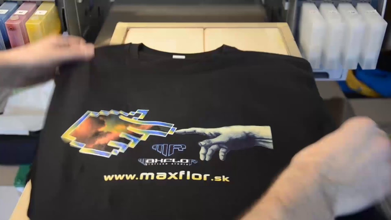 b19843388 Maxflor®- Priama digitálna potlač textilu ECO inkoustami. - YouTube