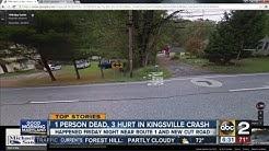 1 dead, 3 hurt in Kingsville crash in Baltimore County