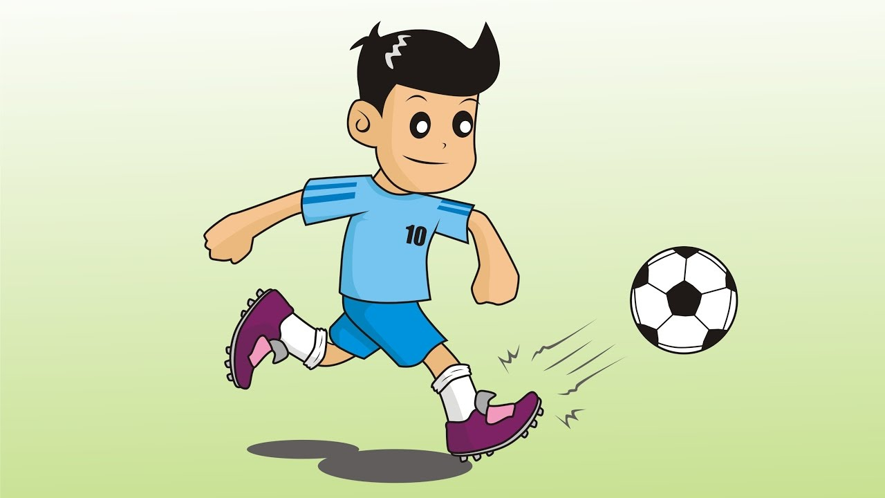 How to draw cartoon soccer player