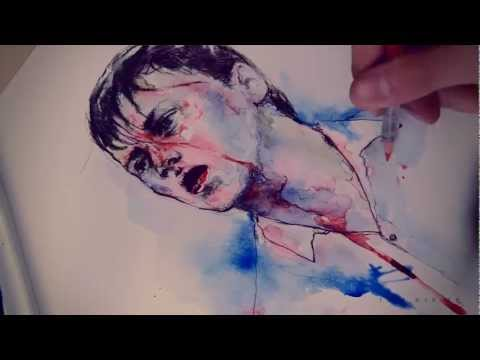 Watercolor Speed Painting by Toni Mahfud