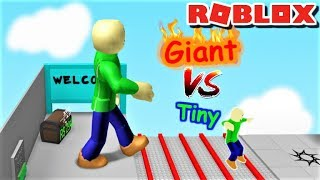 ¡¿EL BALDI GIGANTE VS TINY BALDI?! | The Weird Side of Roblox: Grow Obby