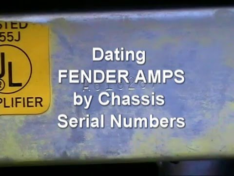 Fender champ serial number dating