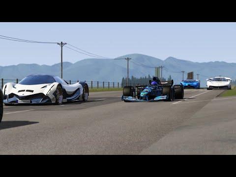 2021 Formula Rapide vs Koenigsegg Gemera vs Koenigsegg Jesko vs Devel Sixteen vs Bugatti Vision GT