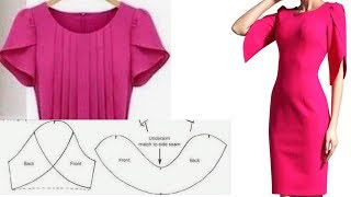 Как скроить рукав/Рукав-лепесток/Платье с рукавом лепесток