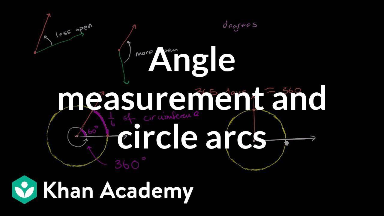 Angle measurement & circle arcs (video) | Khan Academy