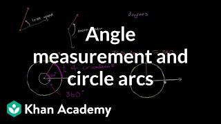 Angle measurement and circle arcs   Angles and intersecting lines   Geometry   Khan Academy