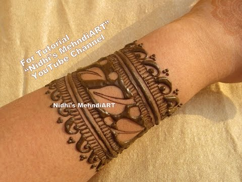 Mehndi Henna Designs S : Unique leaves bangle pattern henna mehndi design tutorial youtube