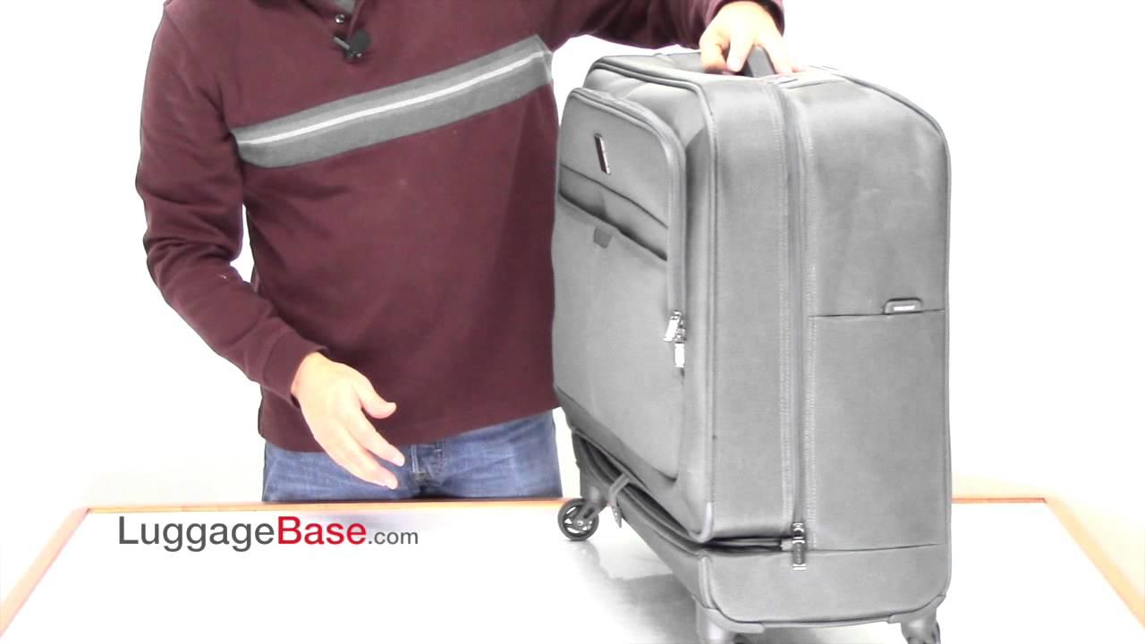 ffb2444d08 Delsey Pilot 3.0 Spinner Wheeled Garment Bag - YouTube