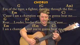 Roar (Katy Perry) Fingerstyle Guitar Cover Lesson with Chords/Lyrics - Capo 3rd