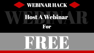How To Host A Webinar For Free - Step by Step