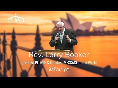 Rev. Larry Booker Sunday pm 3/7/21