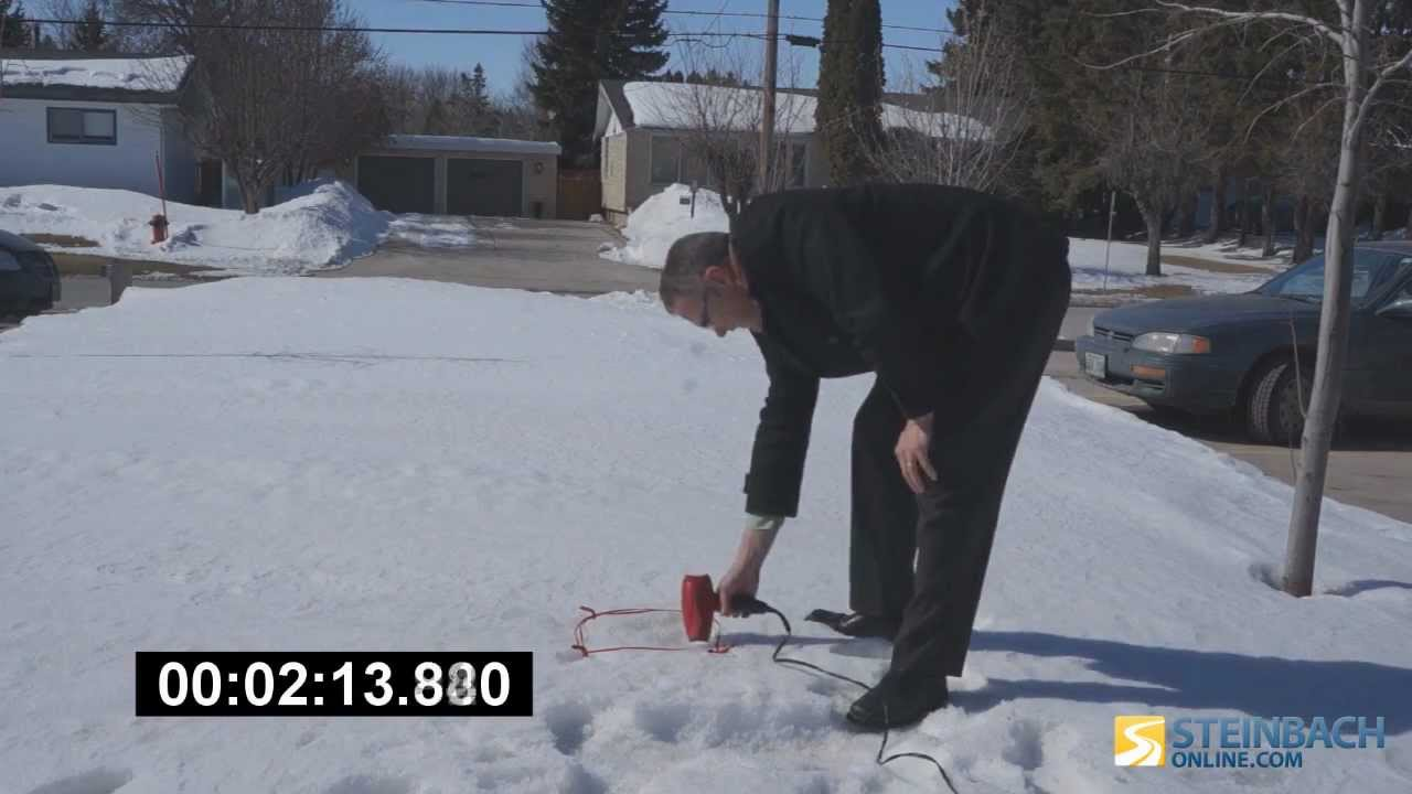 Melting Snow With Hair Dryer Youtube