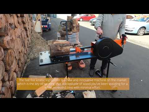 3 SECOND CYCLE TIME | Fast Fire 6 Ton Kinetic Log Splitter - Rapid Fire Log Splitting