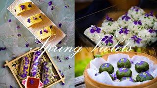 Spring vlog #4: F๐ur ways to eat violets, Foraging and Picnic